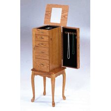 Small Jewelry Armoire in  Oak