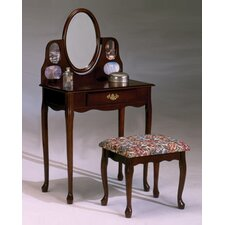 <strong>Bernards</strong> Vanity Set with Mirror