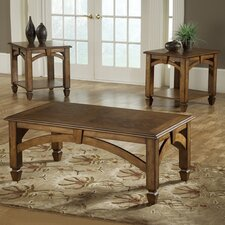 <strong>Bernards</strong> Arch Design 3 Piece Coffee Table Set