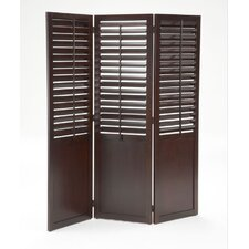 "<strong>Bernards</strong> 72"" x 51"" Plantation Shutter Folding 3 Panel Room Divider"