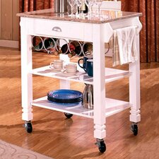 <strong>Bernards</strong> Kitchen Cart with Marble Top
