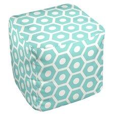 Geometric Cube Pouf Ottoman I