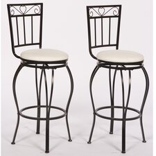 <strong>TMS</strong> Gabriella Pub Bar Stool with Cushion (Set of 2)