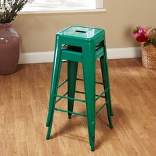 """30"""" Avalon Metal Stackable Stool (Set of 2)"""