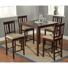 Stratton 5 Piece Counter Height Dining Set