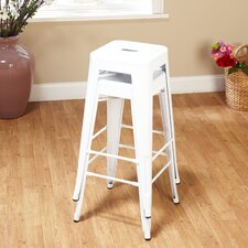 "30"" Avalon Metal Stackable Stool (Set of 2)"