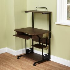 Mobile Computer Tower Desk with Storage