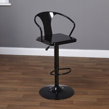 Miraval Adjustable Height Swivel Bar Stool