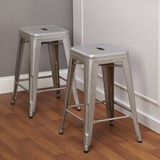 "24"" Avalon Metal Stackable Stool (Set of 2)"