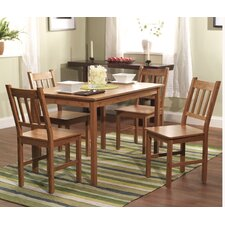 <strong>TMS</strong> 5 Piece Bamboo Dining Set