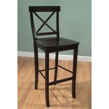 "Easton Cross Back 24"" Barstool in Espresso"
