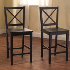 "Virginia 24"" Bar Stool (Set of 2)"