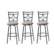 Adjustable Height and Swivel Barstools (Set of 3)