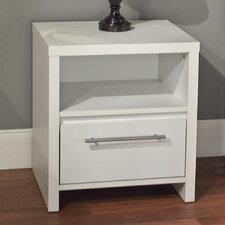 Cece 1 Drawer Nightstand in White