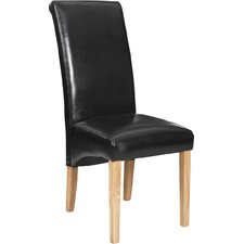 Full Bonded Leather Dining Chair (Set of 2)