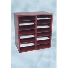 16 Compartment Laminate Literature Organizer