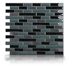 Mosaik Self Adhesive Wall Tile in Muretto Nero (Set of 6)