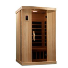 <strong>Golden Designs</strong> Puretech Low EMF 2 Person IR Carbon FAR Infrared Sauna