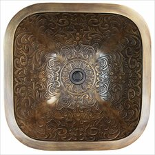 Square Brocade Bathroom Sink