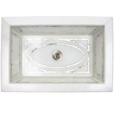 Graphic Mother of Pearl Inlay Drop In Bathroom Sink