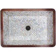 Rectangular Box Mosaic Bathroom Sink