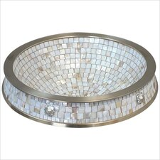 Semi Recessed Mosaic Bathroom Sink