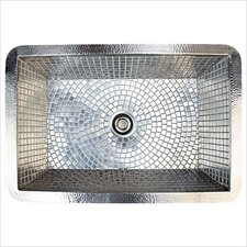 "30"" x 20"" Stainless Steel Mosaic Farmhouse Kitchen Sink"