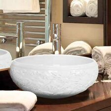 <strong>Linkasink</strong> Hand Carved Porcelain Fish Bathroom Sink