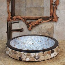 <strong>Linkasink</strong> Semi Recessed Mosaic Bathroom Sink