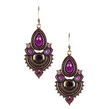 <strong>KC Signatures</strong> Ganesha Resin Drop Earrings