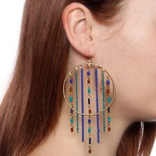 Acrylic Beaded Bohemian Drop Earrings