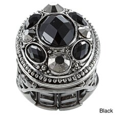 <strong>KC Signatures</strong> Victorian Austrian Crystal Stretch Ring