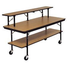 Plastic Laminate Plywood Top Mobile Bar and Buffet Table