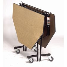 Vinyl Edge Particle Board Octagon Mobile Table