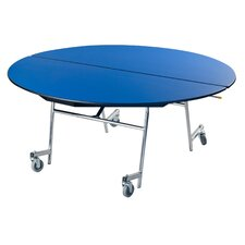 Vinyl Edge Particle Board Oval Mobile Table