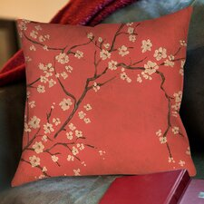 Golden Cherry Blossom Printed Pillow