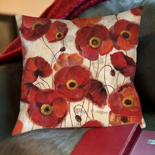Bold Poppies Printed Pillow