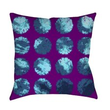 Fuzzy Dots Printed Pillow