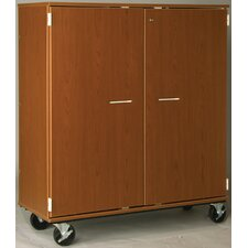 "Music 55"" Choral Folio Storage with Casters and Doors"