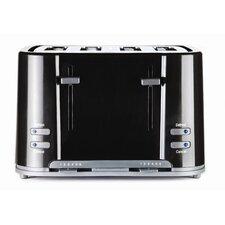 Eco 4 Slice Toaster in Black
