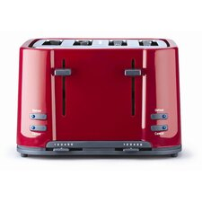 Eco 4 Slice Toaster in Red