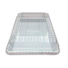 Flairware Disposable Plastic Dome Lid Serving Tray (48/Case)