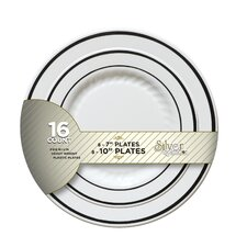 Silver Splendor Plate (Pack of 256)