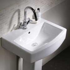 Tetra Countertop Basin in White