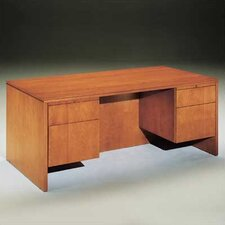 "<strong>High Point Furniture</strong> Forte 72"" W 3/4 Pedestal Credenza with Drawer"