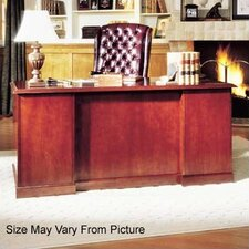 Legacy Double Pedestal Executive Desk with Center Drawer