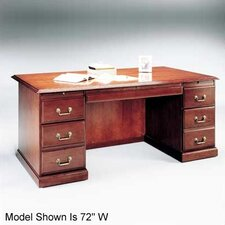 "<strong>High Point Furniture</strong> Legacy 66"" Double Pedestal Veneer Credenza"