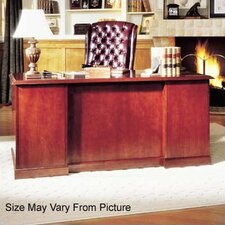 "<strong>High Point Furniture</strong> Legacy 66"" Single Pedestal Veneer Executive Desk"