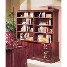 "Bedford 48"" H x 72"" W Desk Double Hutch"