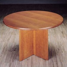 """Contempory 48"""" Round Veneer Conference Table"""